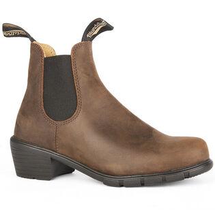 #1673 Women's Series Heeled Boot In Antique Brown