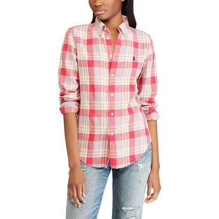 Women's Classic Fit Plaid Cotton Shirt