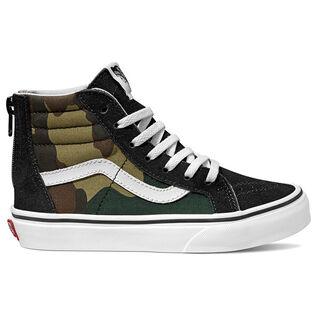 Juniors' [12-4] Woodland Camo Sk8-Hi Zip Sneaker