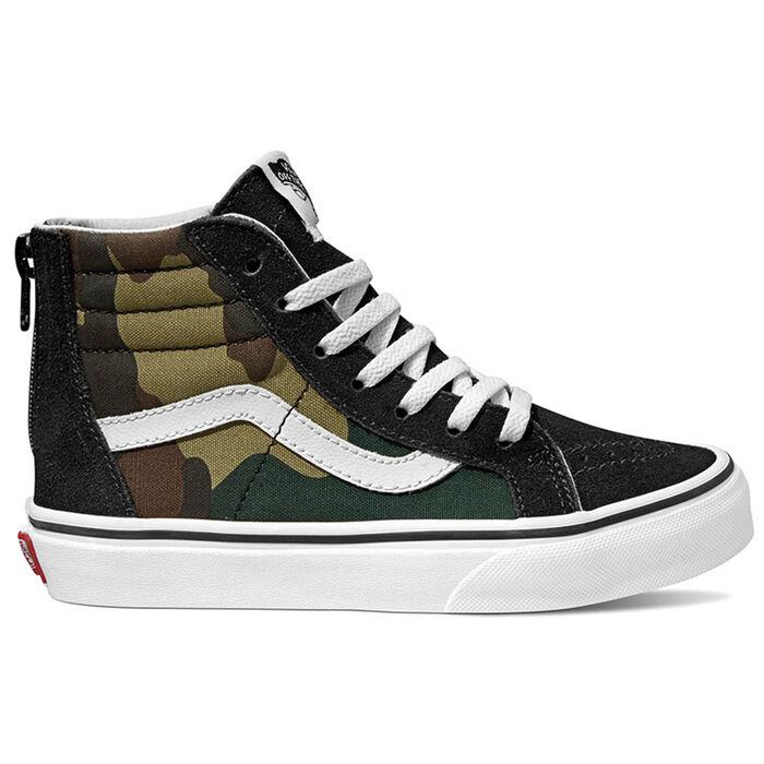 03da00ddc75 Juniors   12-4  Woodland Camo Sk8-Hi Zip Sneaker