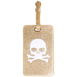 Gold Skull Luggage Tag