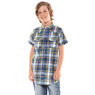 Junior Boys' [8-16] Plaid Western Shirt