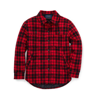 Boys' [5-7] Plaid Double-Knit Shirt Jacket