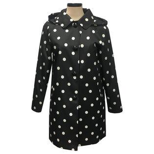 Women's Deco Dot Trench Coat