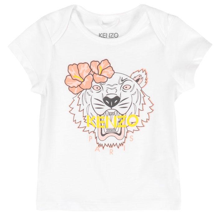 T-shirt tigre hawaiien pour bébés filles [6-18M]