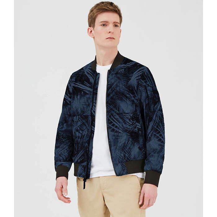 Men's Eagle Printed Bomber Jacket