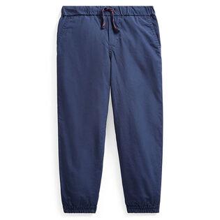 Pantalon de jogging en popeline de coton pour garçons [5-7]