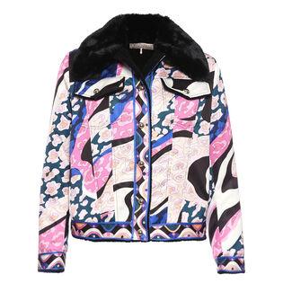 Women's Faux Fur Printed Jacket