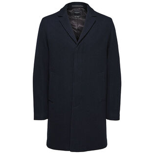 Men's Wool Notch Lapel Coat