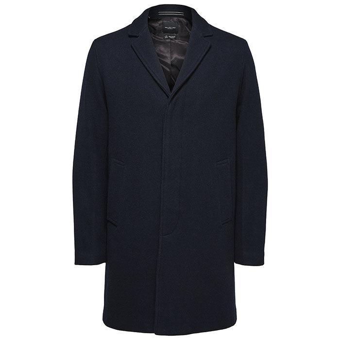Men's Wool Notch Lapel Coat