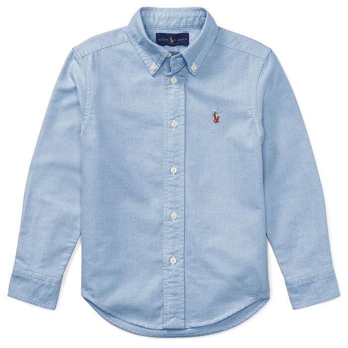 Chemise oxford avec joueur de polo pour garçons