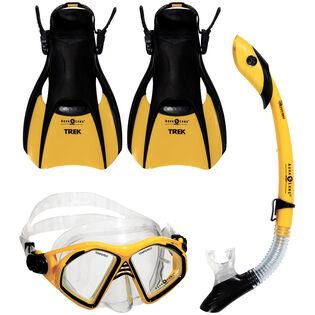 Admiral 4 Piece Snorkel Kit (Foot Size: 10-13)
