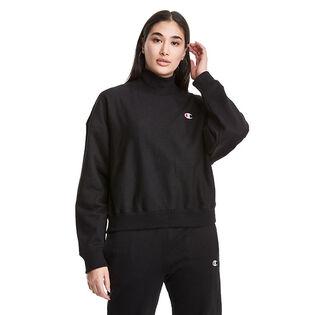 Women's Reverse Weave® Mock Neck Cropped Sweatshirt