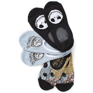 Women's Nightmare Before Christmas Sally + Jack Canoodle Sock (3 Pack)