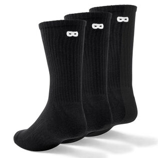 Unisex Ribbed Crew Sock (3 Pack)