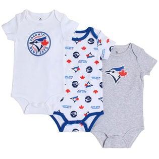Combinaison Blue Jays pour bébés [6-24M] (paquet de 3)