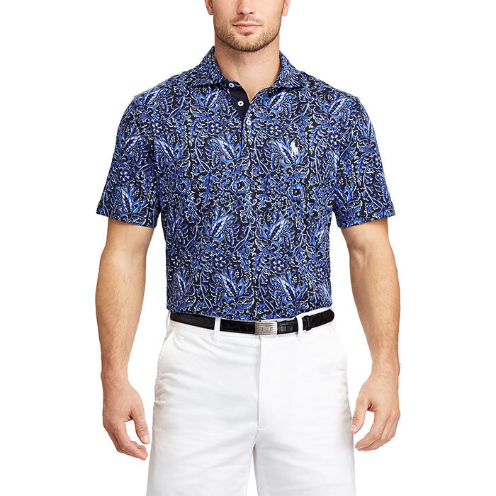 Men's Active Fit Print Jersey Polo