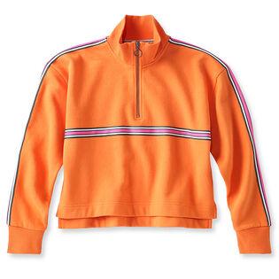 Women's Quarter-Zip Crop Fleece Sweatshirt