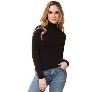 Haut à col roulé en tricot pour femmes