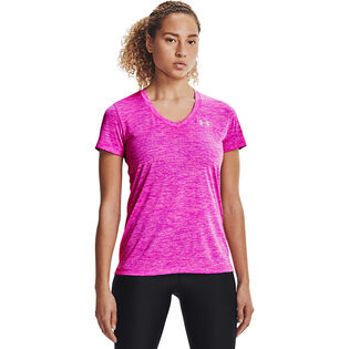 T-shirt à col en V Twisted Tech pour femmes