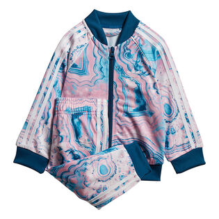 Baby Girls' [3M-3Y] Marble SST Two-Piece Track Suit