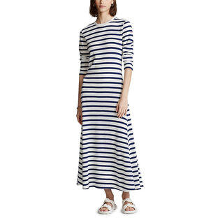 Women's Striped Waffle Knit Dress