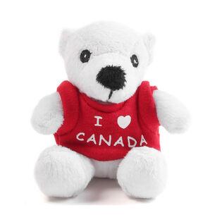 """Polar Bear Canada 4"""" Plush Keychain"""