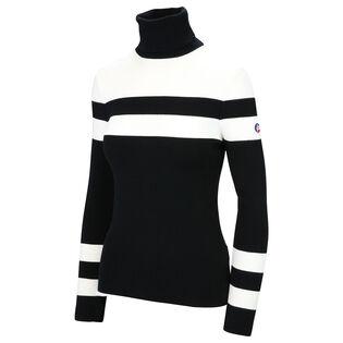 Women's Stripe Turtleneck Sweater