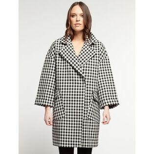 Women's Gingham Oversized Coat