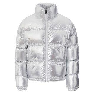 Women's Art Metallic Puffer Jacket
