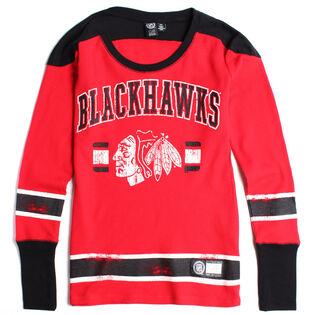 Women's Chicago Blackhawks Waffle Knit Top