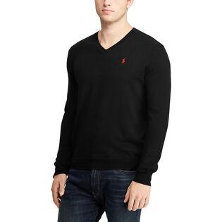 Men's Merino Wool V-Neck Sweater