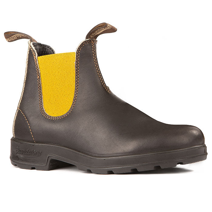 #1919 Original Stout Boot In Brown With Mustard Elastic