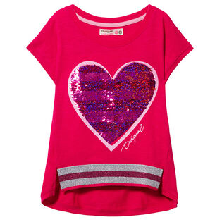 Junior Girls' [7-14] Sequin Heart T-Shirt