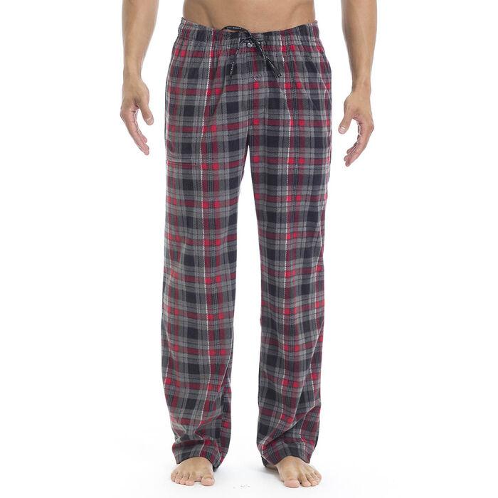 Men's Microfleece Plaid Pajama Pant