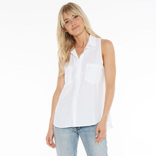 Women's Sleeveless Split Back Shirt
