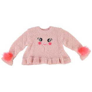 Girls' [3-6] Happy Knitted Sweater Dress
