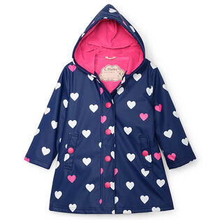 Girls' [2-10] Hearts Colour Changing Splash Jacket