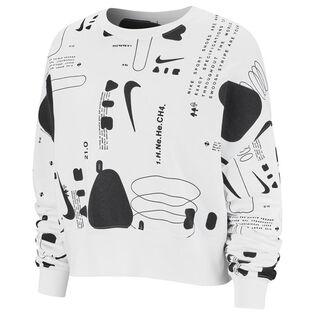 Women's Air Printed Fleece Crew Sweatshirt
