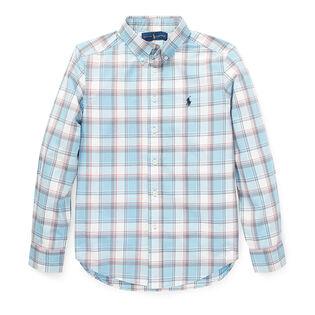 Junior Boys' [8-20] Plaid Cotton Poplin Shirt