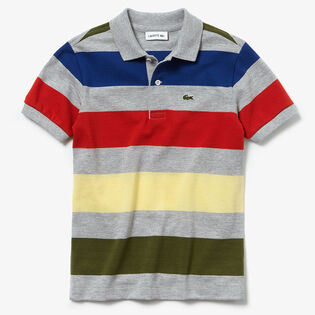 Boys' [2-8] Coloured Stripe Pique Polo