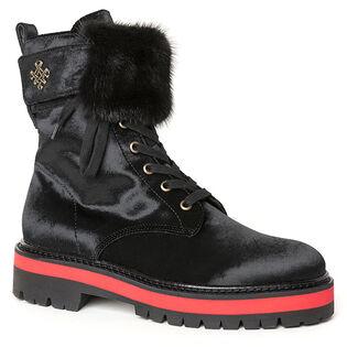 Women's Satin Combat Boot