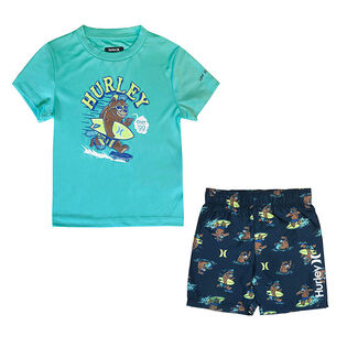 Baby Boys' [12-24M] Surf Bear Rashguard + Swim Trunk Two-Piece Set