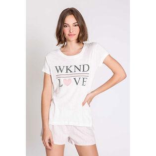 T-shirt Weekend Love pour femmes