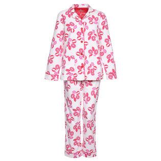 Women's Lips Flannel Two-Piece Pajama Set