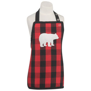 Kids' Buffalo Check Bear Apron