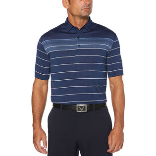 Men's Jacquard Stripe Polo