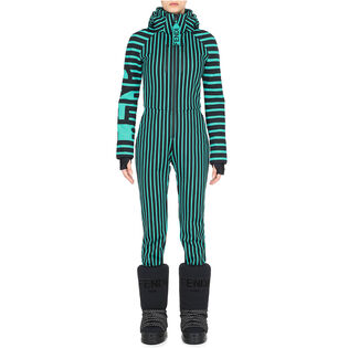 Women's Multi Stripe One-Piece Ski Suit