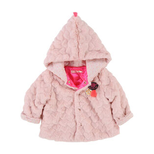 Baby Girls' [12-24M] Faux Fur Hearts Coat