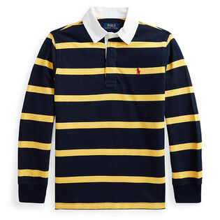 Junior Boys' [8-20] Striped Cotton Jersey Rugby Shirt